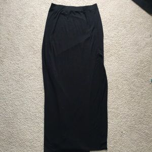 Long Black Maxi Skirt
